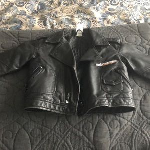 Kids Harley Davidson kids faux leather jacket